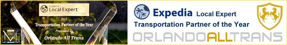 Orlando All Trans transportation services award from Expedia.