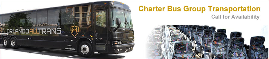Orlando best cheap charter bus group transportation and luxury taxi services.